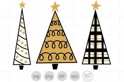 Hand Drawn Christmas Trees SVG SVG Lynda M Metcalf