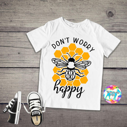 Hand Drawn Mandala Bee - Don't worry BEE happy SVG Twiggy Smalls Crafts