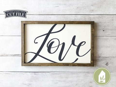 Hand-lettered Love SVG | Romantic svg | Farmhouse Sign Design SVG LilleJuniper