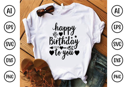 happy birthday to you svg design SVG buydesign