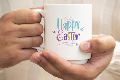 Happy Easter svg, Easter svg, Easter Typography svg SVG SmmrDesign