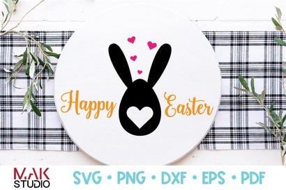 Happy easter svg, Happy easter png, Easter bunny svg, Easter cut file, Bunny easter svg, Fun kids svg SVG MAKStudion