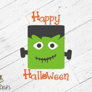 Happy Halloween SVG w/ Monster SVG 616SVG