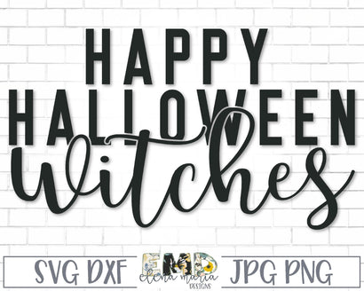 Happy Halloween Witches Svg Cut File SVG Elena Maria Designs