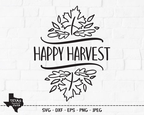 Happy Harvest | Fall SVG SVG Texas Southern Cuts