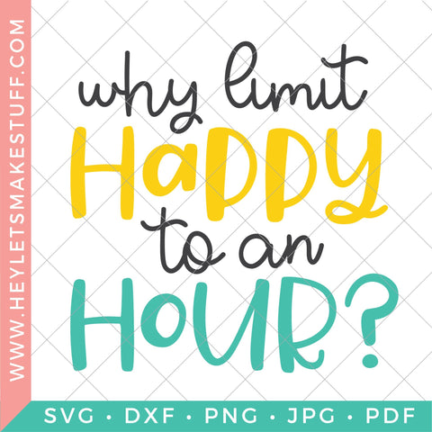 Happy Hour Bundle SVG Hey Let's Make Stuff