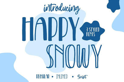 Happy Snowy – Font Trio Font Good Java