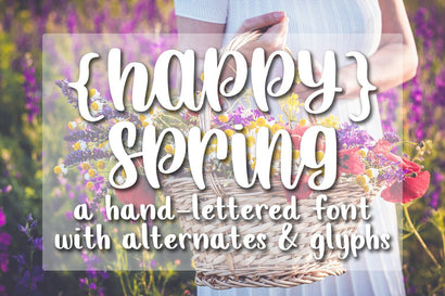 Happy Spring - A Neat Hand lettered Script Font Font Dez Custom Creations