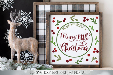 Have Yourself A Merry Little Christmas SVG | Farmhouse SVG | Cricut SVG | Christmas svg | dxf and more! SVG Diva Watts Designs