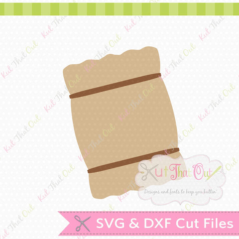 Hay Bale SVG and DXF File SVG Kut That Out
