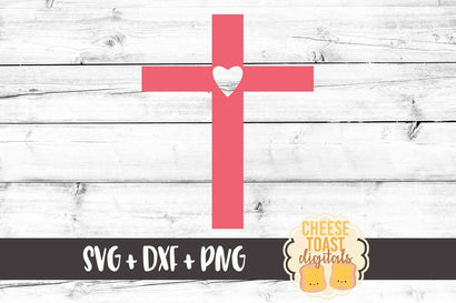 Heart Cross SVG Cheese Toast Digitals