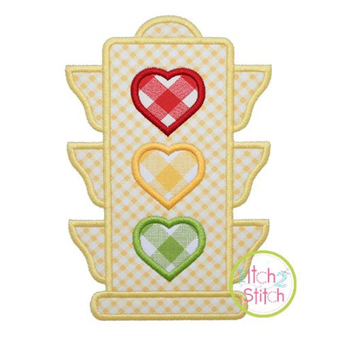 Heart Traffic Light Applique Design Embroidery/Applique The Itch 2 Stitch
