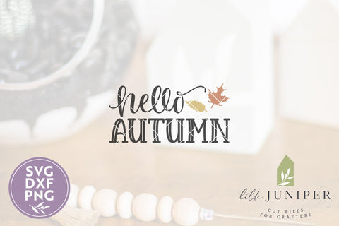 Hello Autumn SVG | Fall Front Door Sign SVG SVG LilleJuniper
