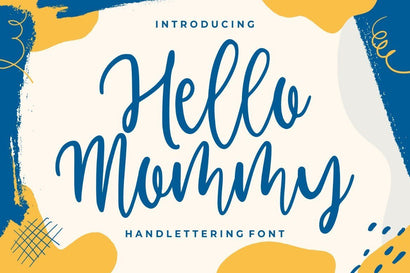 Hello Mommy – Modern Handlettering Font Good Java