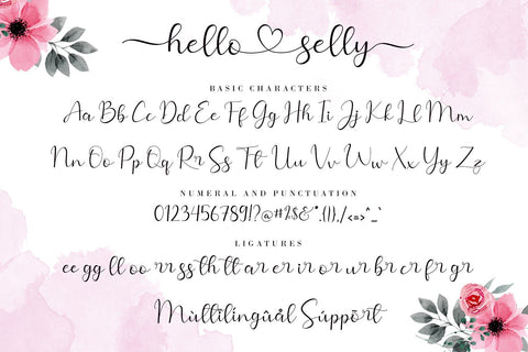Hello Selly Font AEN Creative Store