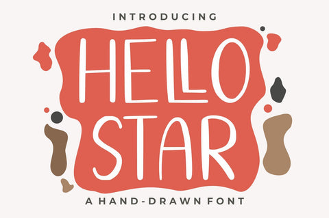 Hello Star Font Good Java