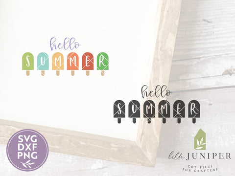 Hello Summer SVG | Popsicle SVG | Farmhouse SVG SVG LilleJuniper