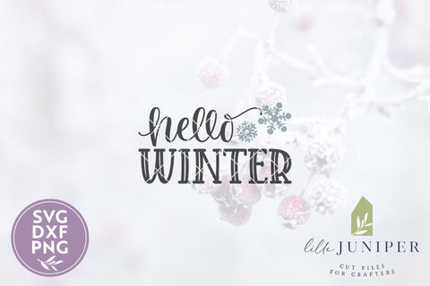 Hello Winter SVG | Front Door SVG | Snowflake SVG SVG LilleJuniper