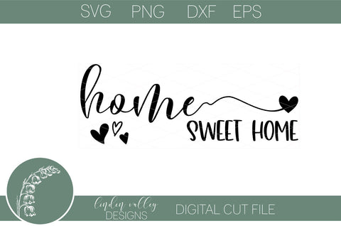 Home Sweet Home Svg-Farmhouse Svg-Family Wood Sign Svg SVG Linden Valley Designs