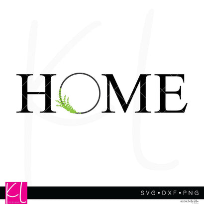 Home with Modern Wreath SVG Kelly Lollar Designs