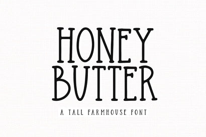 Honey Butter - Farmhouse Font Font KA Designs