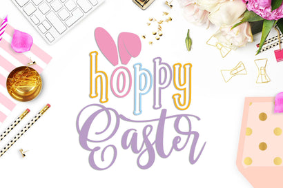 Hoppy Easter cut file SVG TheBlackCatPrints