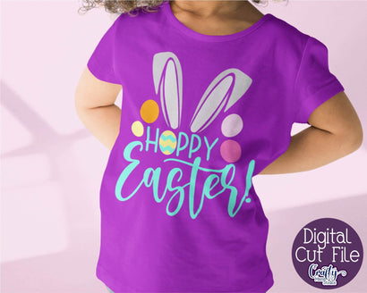 Hoppy Easter Svg - Easter Bunny Ears - Easter Kids Design SVG Crafty Mama Studios