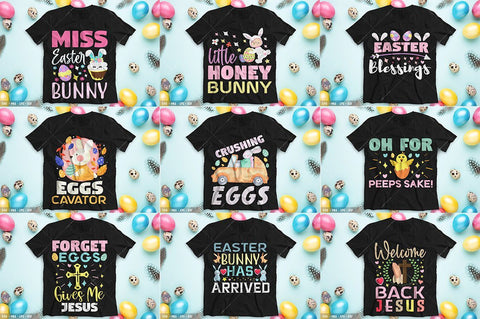 HUGE Easter Tshirt Bundle svg eps dxf png Files for Cutting Machines Cameo Cricut, Blessed, Bunny Rabbit, Christian Jesus, Egg Hunt, Chicks SVG Designangry