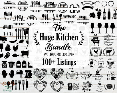 HUGE Kitchen bundle SVG, Cook bake wine farm coffee bundle SVG Redearth and gumtrees