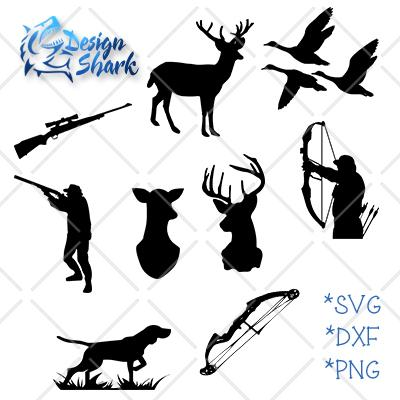 Hunting Silhouettes SVG Design Shark