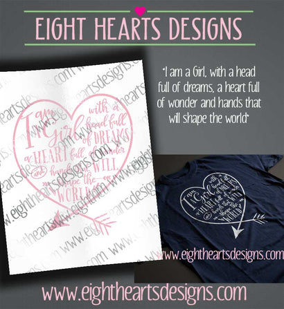 I'm a Girl ... SVG SVG Eight Hearts Designs