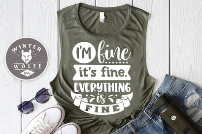 I'm fine it's fine everything is fine SVG cut file - commercial use SVG DXF PNG EPS SVG WinterWolfeSVG