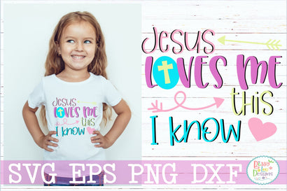 Jesus loves me this I know SVG Cutting File SVG Bizzy Lou Designs