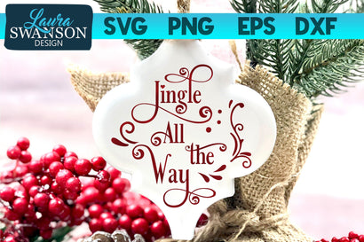 Jingle All the Way SVG Cut File SVG Laura Swanson Design