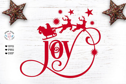 Joy Cut File and Clipart - Christmas svg file SVG Graphic House Design