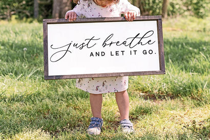 Just Breathe And Let It Go SVG SVG So Fontsy Design Shop