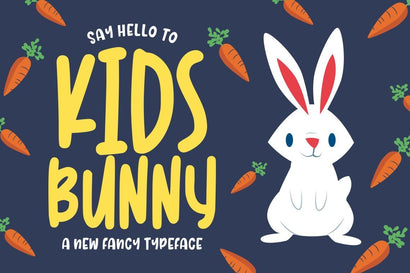 Kidsbunny Playful Font Font Good Java