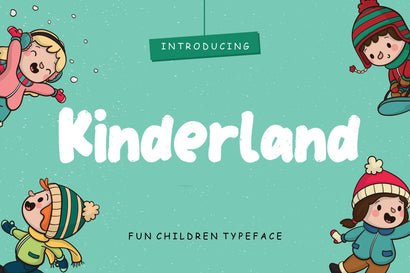 Kinderland Fun Children Typeface Font Creatype Studio