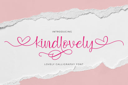 Kindlovely Font Jun Creative