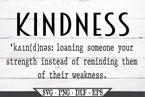 Kindness Definition SVG Vector Cut File SVG My Sassy Gifts