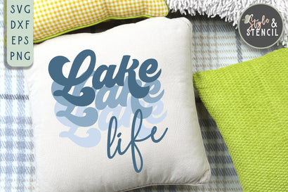 Lake Life SVG | Summer | Retro Shirt SVG Style and Stencil