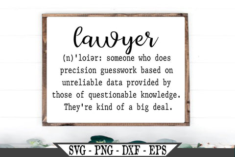 Lawyer Definition SVG Vector Cut File SVG My Sassy Gifts