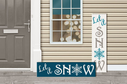 Let It Snow Christmas Porch Sign SVG Risa Rocks It