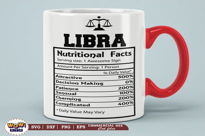 Libra Nutritional Facts Svg , Zodiac sign svg, Nutrition, Zodiac svg SVG Wowsvgstudio