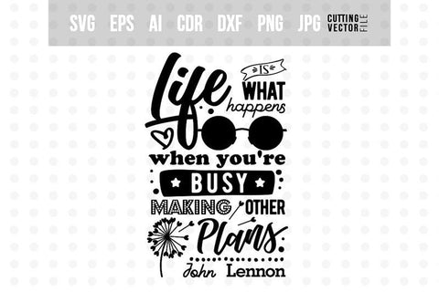 Life is - John Lennon's SVG SVG VectorSVGdesign