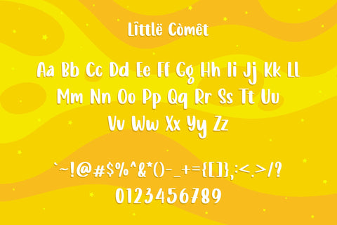 Little Comet - Bubbly Font Allouse.Studio