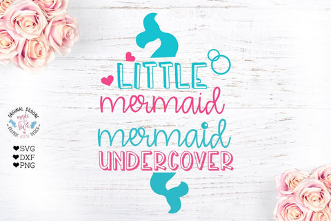 Little Mermaid Mermaid Undercover SVG Graphic House Design