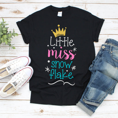 Little Miss Snow Flake Svg, Little Miss Svg, Flakes Svg, Christmas Svg, Merry Christmas, Christmas Girl Tshirt, Instant Download SVG kaoticsvgdesigns