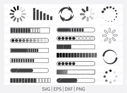 Loading SVG bundle, Loading Clipart, Loading SVG file, Baby Loading Svg, Loading Silhouette, Loading Clipart Cutting File, Printable Png,m SVG Dinvect