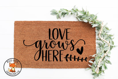 Love Grows Here SVG | Easter Spring | SVG PNG DXF SVG RedFoxDesignsUS